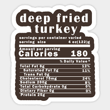 Deep Fried Turkey Nutrition Facts Thanksgiving Thanksgiving Day T Shirt