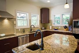 Kitchen Sinks For Granite Countertops Kitchen Nice Granite Countertop With Small Sink And Traditional