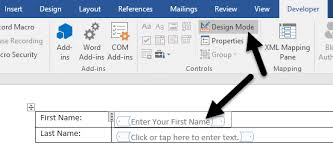 How To Make Survey Form In Word How To Create Fillable Forms In Microsoft Word