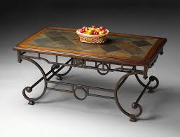 interesting rectangle diagonal patterns stone coffee table with antique iron base on white floor tiled ideas