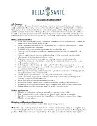 Sample Cosmetologist Resume 85 Breathtaking Resume Template
