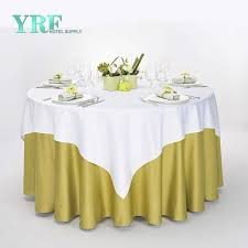 custom 90 round polyester table cloth decorative table covers for banquet or wedding