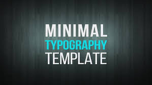 typography templates minimal typography after effects templates motion array