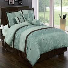 teal brown bedding sets blue brown bedding set with blue fl pattern comforter set dark mahogany