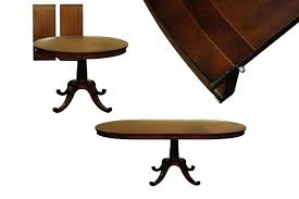 round dining table with expandable leaf small inch