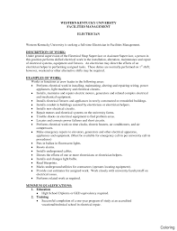 Maintenance Resume Cover Letter Maintenance Electrician Cover Letter Fungramco 59