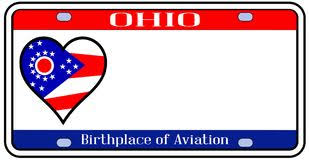 ohio license plate ohio state license plate in the colors of the state flag with