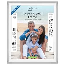mainstays 18x22 matted to 16x20 silver metallic poster and picture frame com