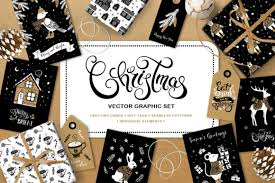 Christmas Vector Graphic Set Graphic By Nata Art Graphic Creative Fabrica