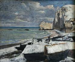 gustave courbet la plage d etretat par temps de neige the beach of etretat by snowy weather 1870 on artstack