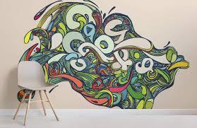 trippy psychedelic graffiti wallpaper