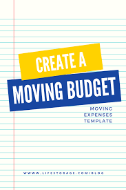 Budget Expenses Template Create A Realistic Moving Budget Using This Guide