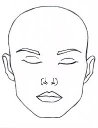 Face Charts To Print Blank Closed Eyes Face To Print And Laminate Or Paint For