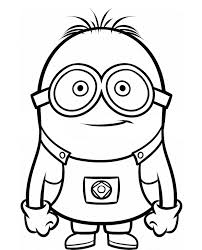 Small Picture Dave The Minion Despicable Me Coloring Pages Cartoon Coloring
