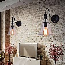 generic 1pc glass wall lights vintage chandelier lighting bathroom wall sconce lobby lamp diy install not included the bulb