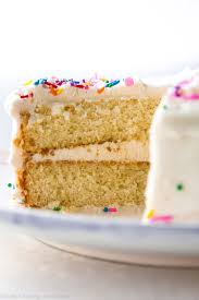 soft fluffy and perfect white layer cake made from scratch get the