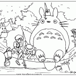 Small Picture Totoro Coloring Pages Bebo Pandco