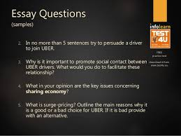 uber analytics preparation course v essay questions tes  4