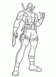 Deadpool 2016, and deadpool 2 2018 , are american superhero films based on the marvel comics character of the same name, distributed by 20th century fox. Coloring Pages Of Deadpool Coloring Home