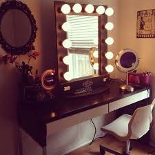 Makeup Vanities For Bedrooms With Lights Mirror Makeup Vanity