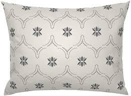 Roostery Pillow Sham, Geometric Wildflower White <b>Geo</b> Boho ...