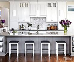 View in gallery Ergonomic and bright kitchen for the chic home