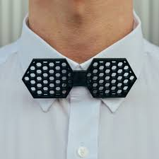 Hexagon Bow Tie 3d Print Model