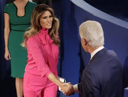 Melania Trump Trolls Clintons with Pussy Bow Blouse at Debate