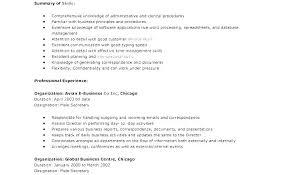 Secretary Resume Templates New Legal Secretary Resume Cover Letter Sample Medical Free Receptionist