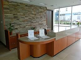 one of our custom millwork projects a gorgeous reception desk and countertops by smart office