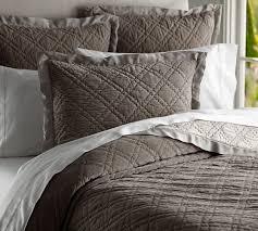 Washed Velvet Silk Quilt & Sham | Pottery Barn | Bedding ... & Washed Velvet Silk Quilt & Sham | Pottery Barn Adamdwight.com