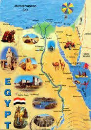 large tourist map of egypt  egypt  africa  mapsland  maps of