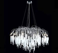contemporary collection 10 light large crystal chandelier