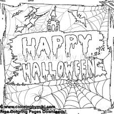 Halloween Spooky Coloring Page 1248 Coloring By Miki