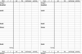 Printable Weekly Calorie Chart Printable Weekly Food Journal