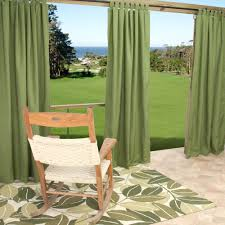 sunbrella spectrum cilantro outdoor curtain with tabs 50 in x 96 in
