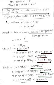 Cement Density Chart How To Calculate Cement Sand Quantity In 1 3 Mortar Quora