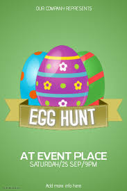 Easter Egg Hunt Flyer Template Postermywall