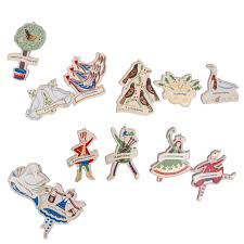 Birchcraft Set Of 12 Days Of Christmas Decorations
