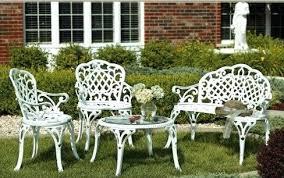 Garden Furniture Wrought Iron White Wrought Iron Garden Furniture