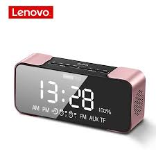<b>Lenovo L022</b> Portable <b>Bluetooth</b> Wireless Speaker Led Alarm Clock ...