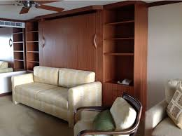king murphy bed with sofa resides in maui sofaking cherry closed top 700