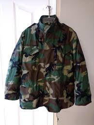 new g i m65 field jacket with liner woodland camo medium regular for in chesterfield va offerup