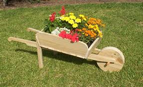 decorative wheelbarrow planter buildeazy
