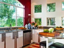 Kitchen With Red Appliances Kitchen Style High End Modern Eclectic Kitchen Red White Glass