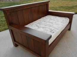 wood twin daybed.  Wood Wood Twin Daybed Frame Intended