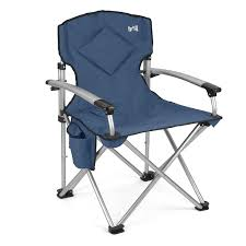trail ultimate padded folding chair blue
