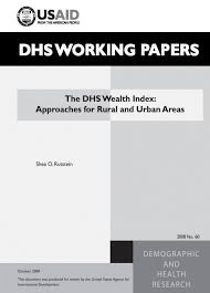 the dhs program the dhs wealth index approaches for rural and  cover of the dhs wealth index approaches for rural and urban areas english