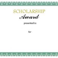 scholarship award certificate templates scholarship awards certificates templates best of award certificate