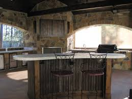 outdoor kitchens and bars built out of galvalume stylish wooden fall